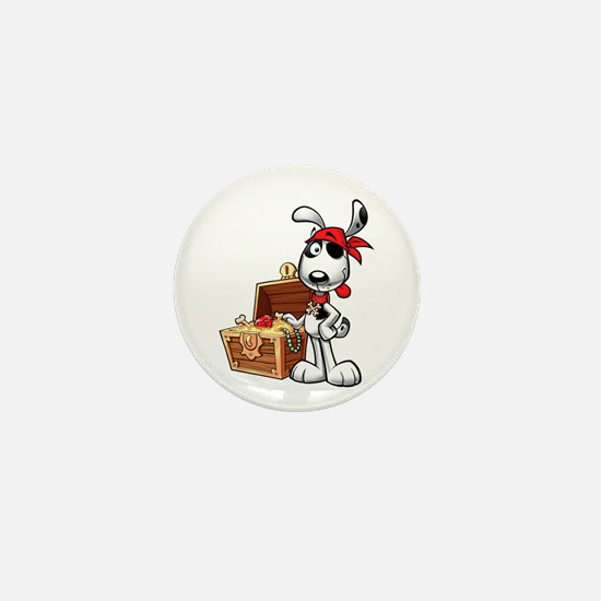 The Nauti Dog Pirate Mini Button