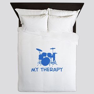 Drums my therapy Queen Duvet