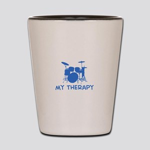 Drums my therapy Shot Glass