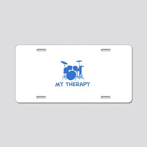 Drums my therapy Aluminum License Plate