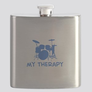 Drums my therapy Flask