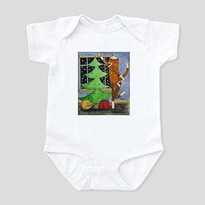 Christmas Sock Monkey Infant Bodysuit