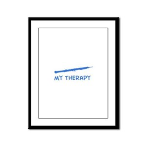 Oboe my therapy Framed Panel Print