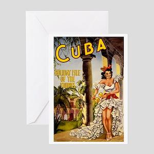 Vintage Cuba Tropics Travel Greeting Card