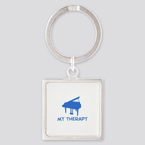 Piano my therapy Square Keychain