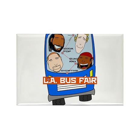 L.A. Bus Fair T-shirt Rectangle Magnet