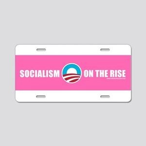 Obama Socialism on the Rise Aluminum License Plate
