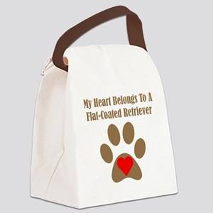 Flat-Coated Retriever2 Canvas Lunch Bag