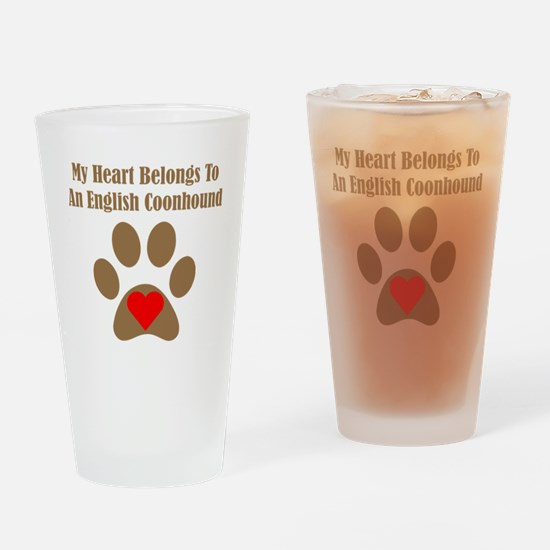 English Coonhound2 Drinking Glass