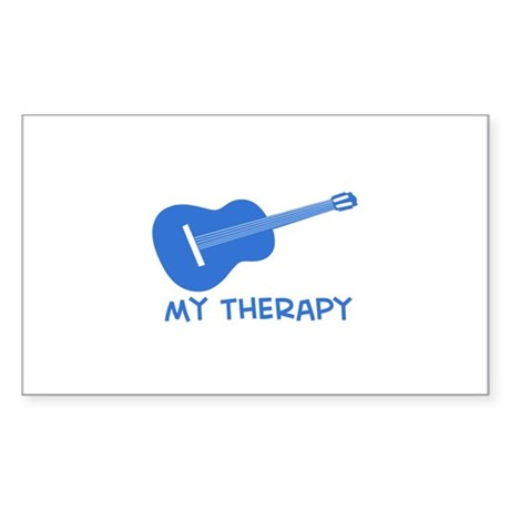 Ukelele my therapy Sticker (Rectangle)