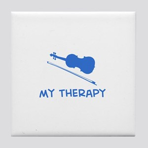Violin my therapy Tile Coaster