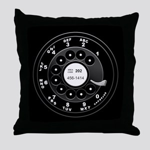 Rotary Faux -bw Throw Pillow