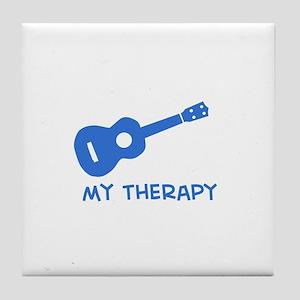 Ukelele my therapy Tile Coaster