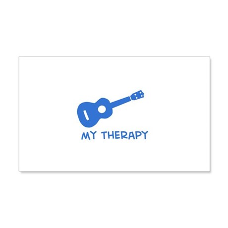 Ukelele my therapy 20x12 Wall Decal
