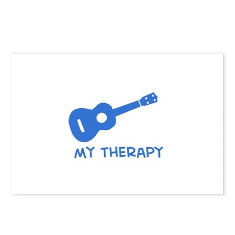 Ukelele my therapy Postcards (Package of 8)