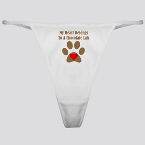 Chocolate Lab2 Classic Thong
