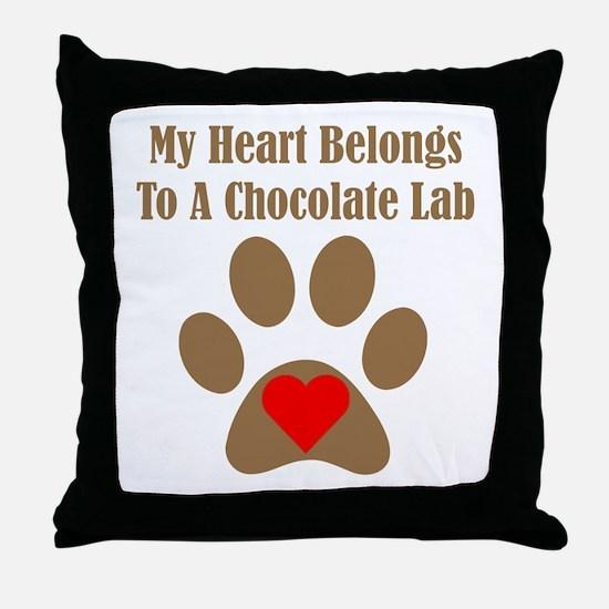 Chocolate Lab2 Throw Pillow