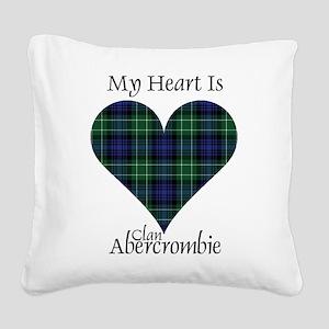 Heart - Abercrombie Square Canvas Pillow