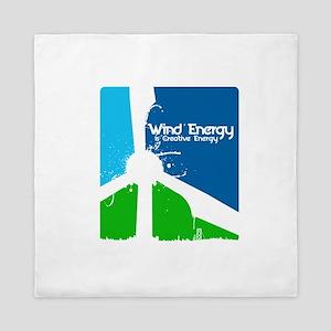 Wind Energy Is Creative Queen Duvet