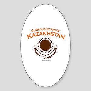 Glorious Kazakhstan Oval Sticker