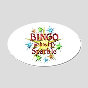 Bingo Sparkles 20x12 Oval Wall Decal