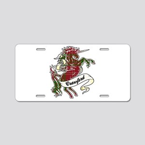 Crawford Unicorn Aluminum License Plate