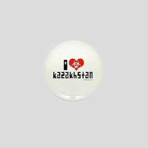 I Love Kazakhstan Mini Button