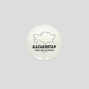 Kazakhstan: Come stay my house Mini Button
