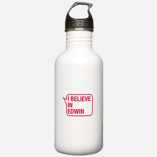 I Believe In Edwin Water Bottle