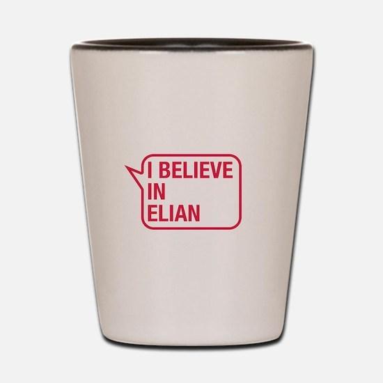 I Believe In Elian Shot Glass
