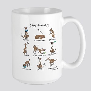 Iggy Resume / Italian Greyhound Resume Large Mug