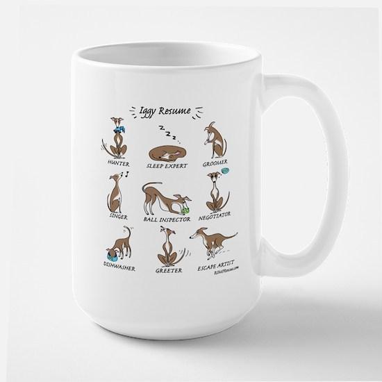 Iggy Resume / Italian Greyhound Resume Large Mug