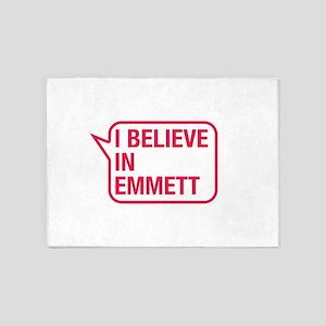 I Believe In Emmett 5'x7'Area Rug