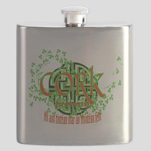 Cork Shamrock Flask