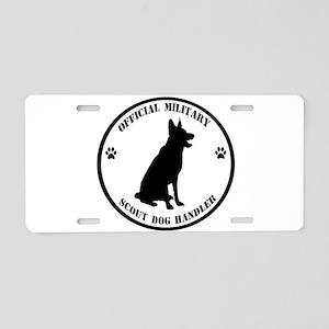 Official Military Scout Dog Handler Aluminum Licen