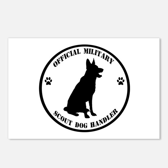 Official Military Scout Dog Handler Postcards (Pac