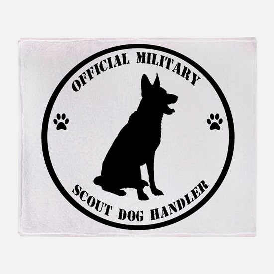 Official Military Scout Dog Handler Throw Blanket