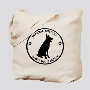 Official Military Scout Dog Handler Tote Bag