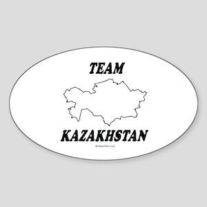 Team Kazakhstan Oval Sticker