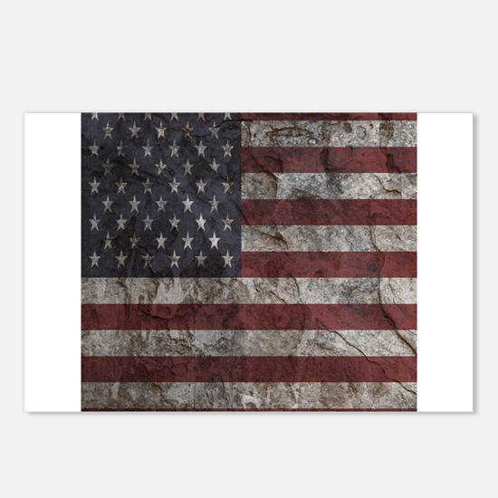 Cave Wall American Flag Postcards (Package of 8)