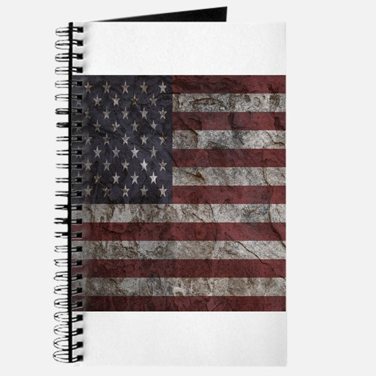 Cave Wall American Flag Journal