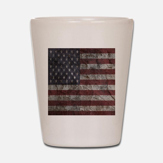 Cave Wall American Flag Shot Glass