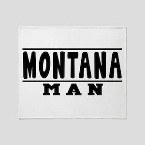 Montana State Designs Throw Blanket