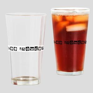 Free Snowden 1 Drinking Glass