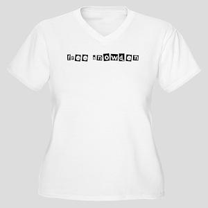 Free Snowden 1 Plus Size T-Shirt