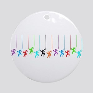 rock_climbing 12cdcl Ornament (Round)