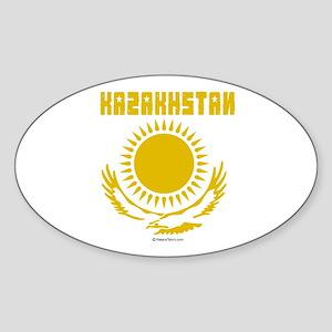 Kazakhstan Oval Sticker