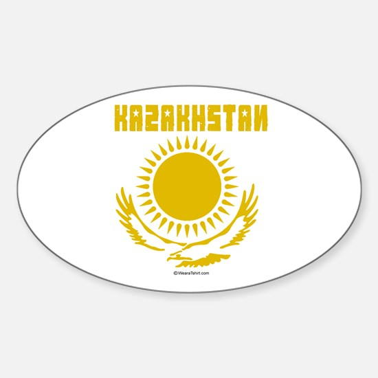 Kazakhstan Oval Decal