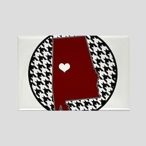 Roll Tide in my Heart Rectangle Magnet
