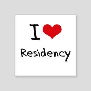 I Love Residency Sticker